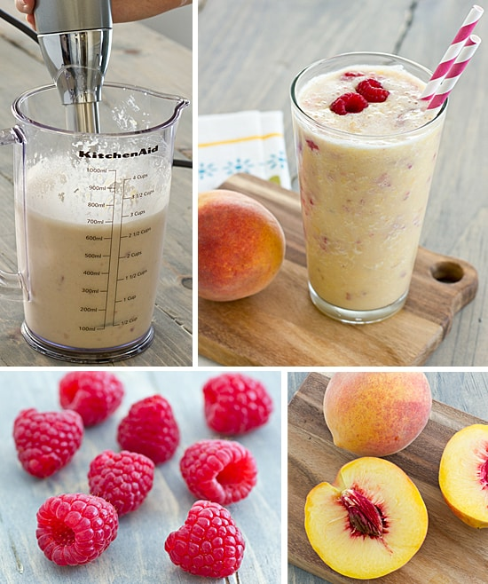 Kitchenaid Review + Peach Melba Greek Yogurt Shake