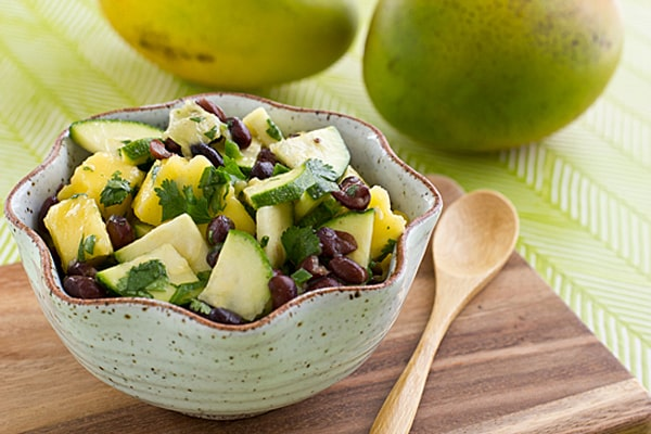 Mango Black Bean Salad Recipe + How to Cut a Mango