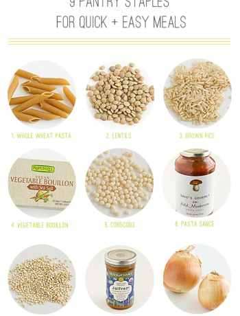 9 Pantry Staples For Quick & Easy Meals