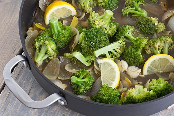 Lemony Braised Broccoli