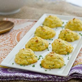 Trimmed-Down Cheddar & Chive Duchess Potatoes Recipe