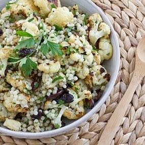 Warm Cauliflower & Israeli Couscous Salad Recipe