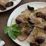Asparagus Ravioli with Pan-Seared Mushrooms Recipe