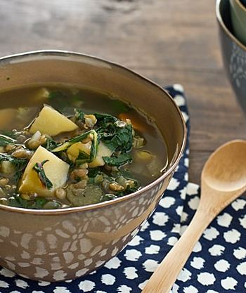 Chard, Lentil, and Potato Slow Cooker Soup