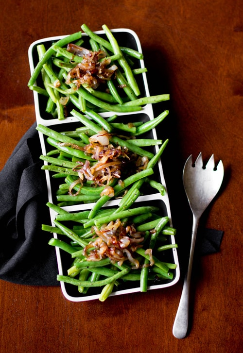 Green Beans & Caramelized Shallots