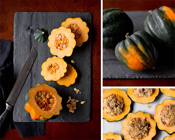 Quinoa-Stuffed Acorn Squash Rings