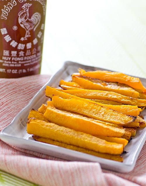 Baked Sriracha Butternut Squash Fries