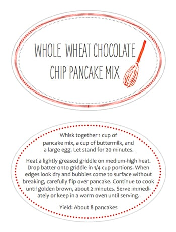 Printable Jar Labels for Pancake Mix