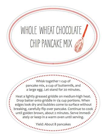 Printable Jar Labels for Pancake Mix