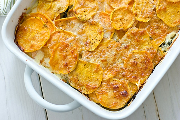 Sweet Potato & Kale Gratin