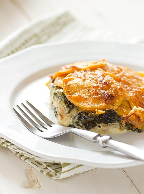 Sweet Potato & Kale Gratin