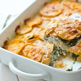Sweet Potato & Kale Gratin Recipe