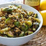 Lemony Wheat Berries with Roasted Brussels Sprouts Recipe