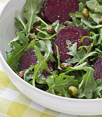 Roasted Beets with Edamame & Arugula Recipe