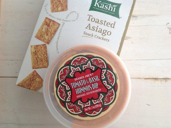 Asiago Crackers & Tomato Basil Hummus