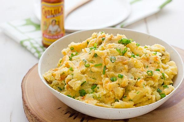 Cheddar & Cholula Mashed Potato Recipe