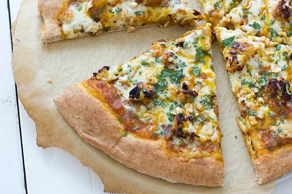Indian Cauliflower Pizza