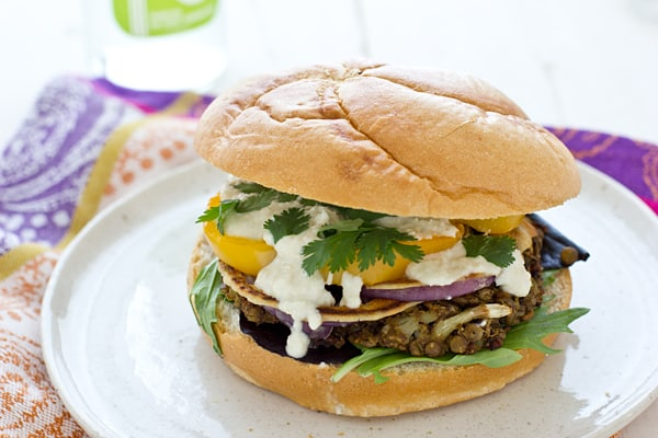 Red Lentil Cauliflower Burger