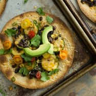 Black Bean & Veggie Baked Tostadas Recipe