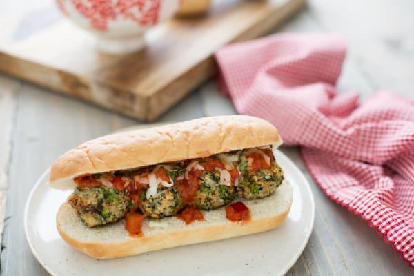 Broccoli Parmesan Meatball Sub