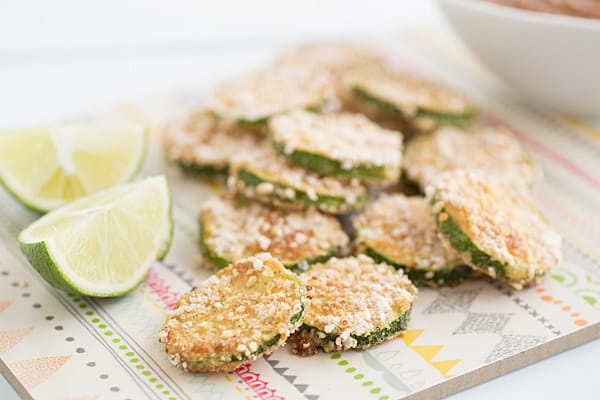 Crispy Sweet Chili Zucchini with Lime-Almond Dipping Sauce Recipe
