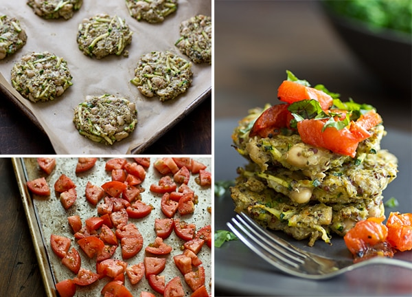 Pesto Quinoa & White Bean Cakes