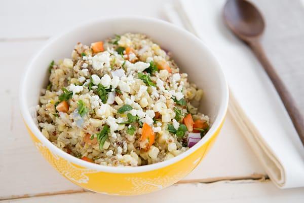Charred Corn & Quinoa Salad