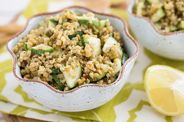 Freekeh, Zucchini & Pistachio Salad Recipe