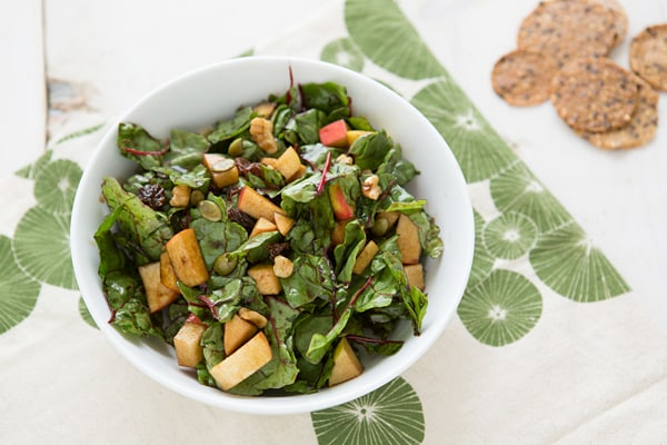 Raw Chard Salad with Maple Vinaigrette