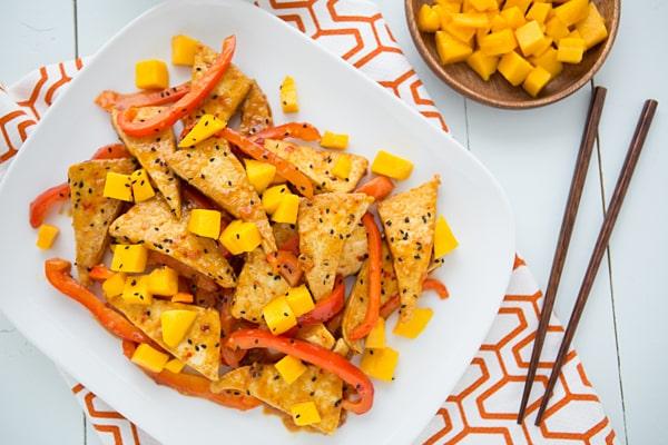 Mango Chili Tofu Stir Fry