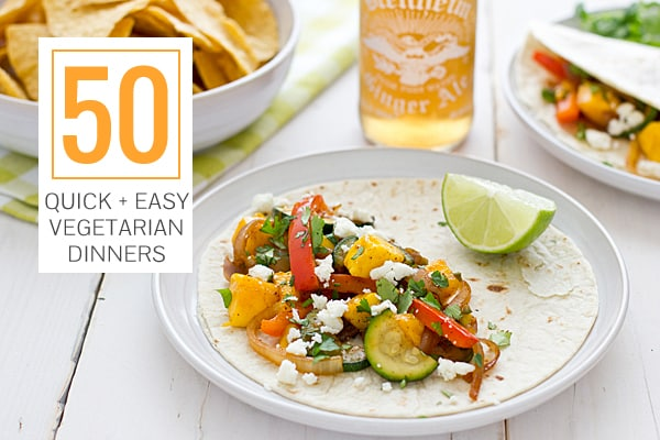 50 Quick Easy Vegetarian Dinners
