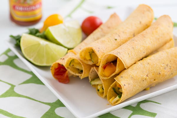 Baked Farmers Market Taquitos