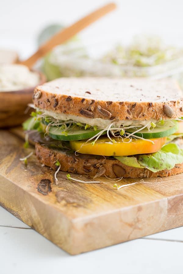 Basil White Bean Sandwich Spread