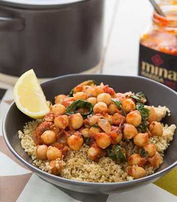 Spicy Chickpea & Spinach Stew Recipe