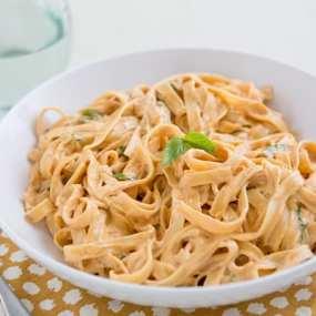 Vegan Sun-Dried Tomato Fettuccine Recipe