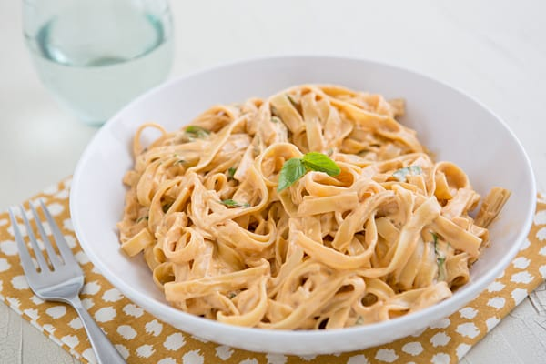Vegan Sun-Dried Tomato Fettuccine Recipe