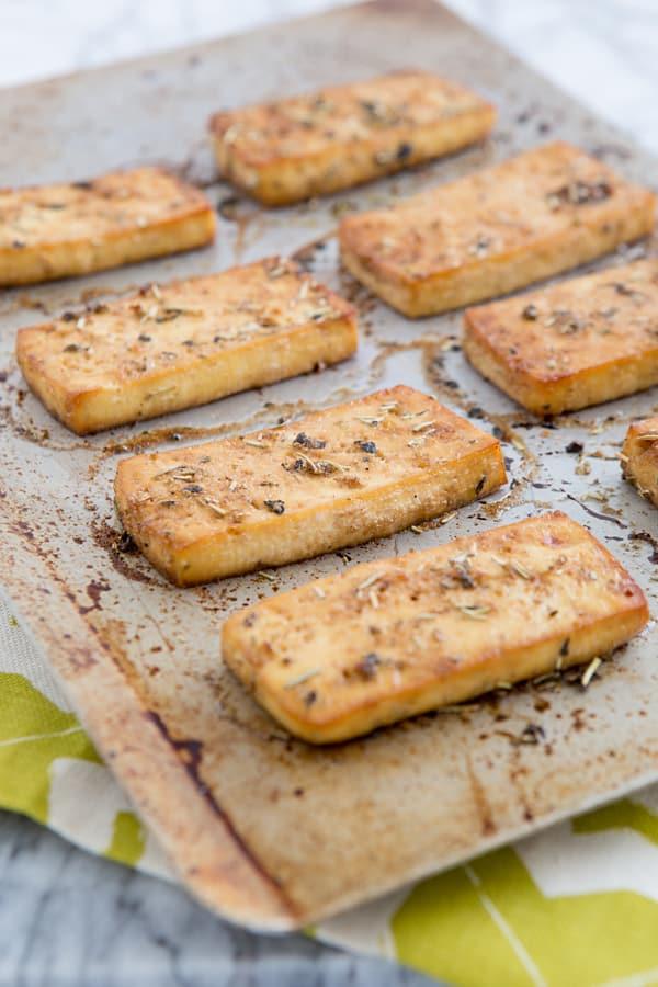 Baked Italian Herb Tofu