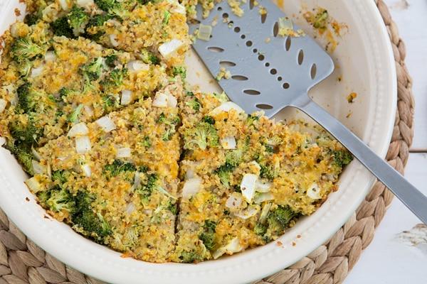 Broccoli Cheddar Quinoa Pie