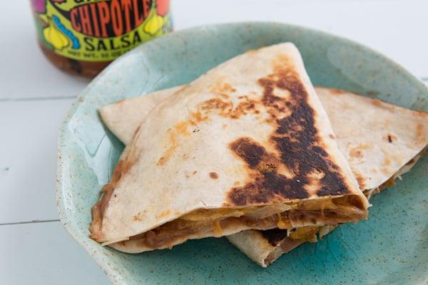 Crispy Bean & Cheese Tacos