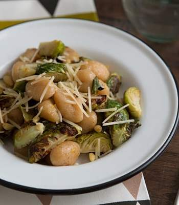Gnocchi with Roasted Brussels Sprouts, Lemon & Pine Nuts Recipe
