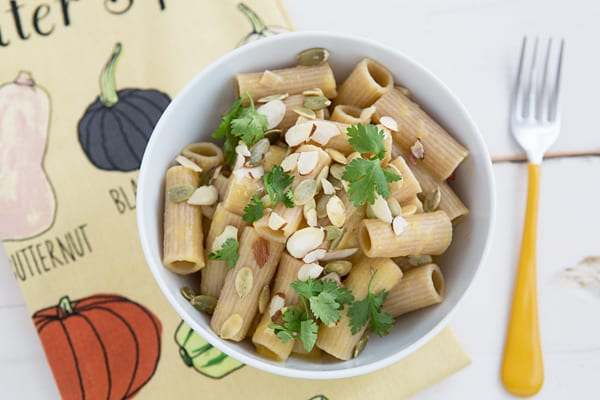 Rigatoni with Chipotle Pumpkin Cream Sauce