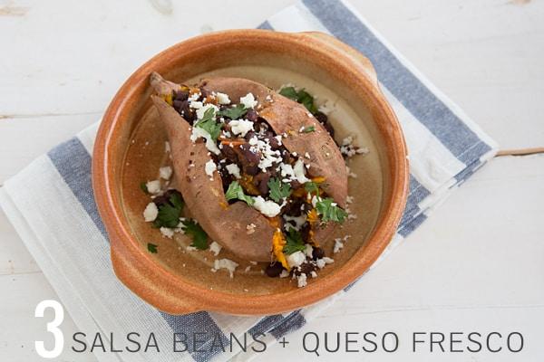 Salsa Bean & Queso Fresco Sweet Potato