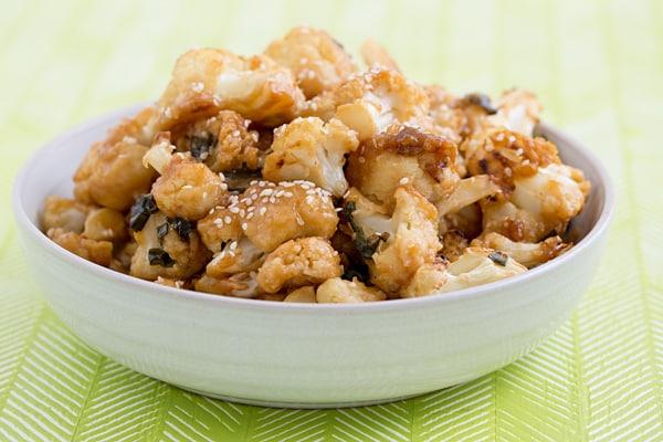 Sesame-Glazed Cauliflower Wings