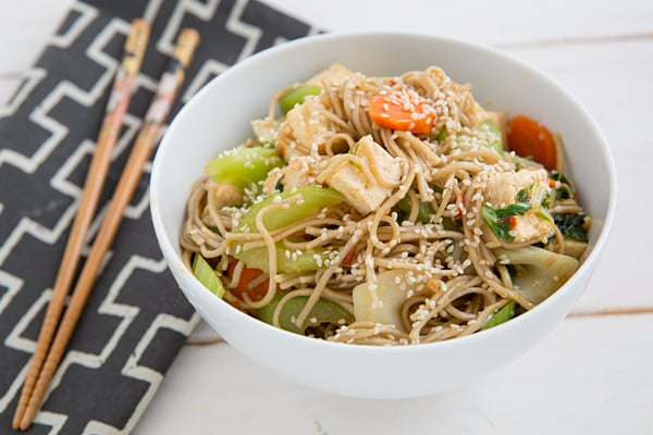 Sweet Chili, Hoisin, Tofu & Vegetable Noodles