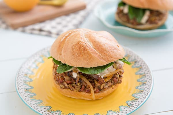 Freekeh Bean Burgers with Harissa Onions Recipe