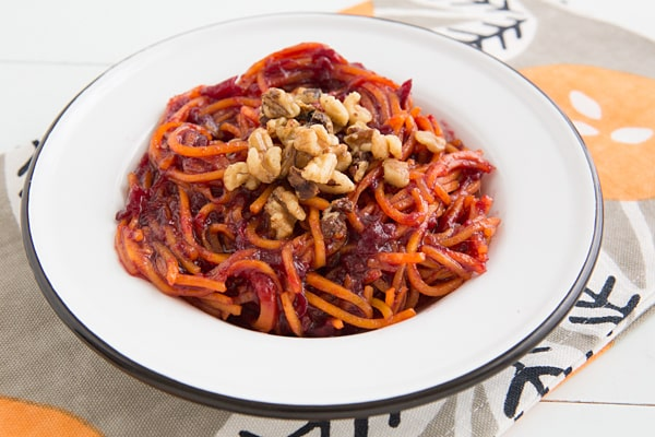 Orange Cranberry-Glazed Butternut Squash Noodles