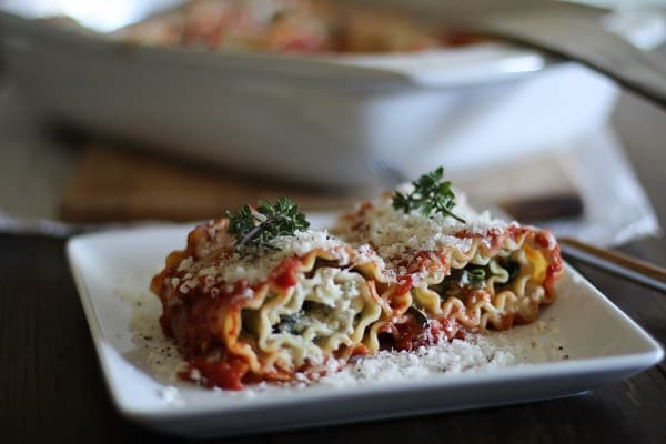 Portobello and Spinach Lasagna Roll-Ups Recipe