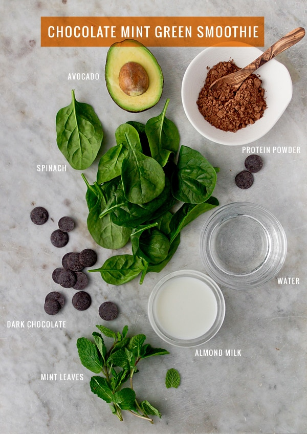 Chocolate Mint Green Smoothie