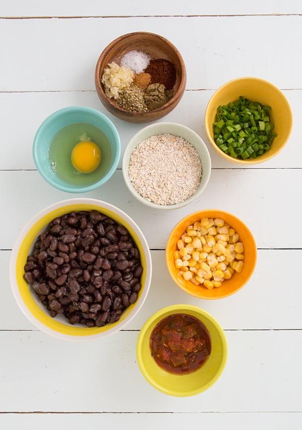 Spicy Black Bean Meatball Ingredients