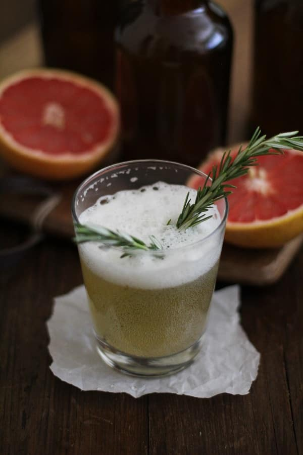 Grapefruit Rosemary Kombucha and Delicious Probiotic Drinks, a cookbook on brewing probiotic beverages at home